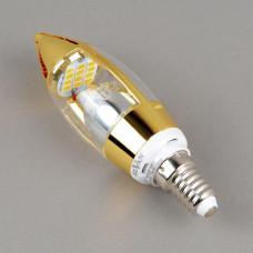 E14-5W-3000K-Dim-Q68 Лампа LED (свеча золото диммируется)